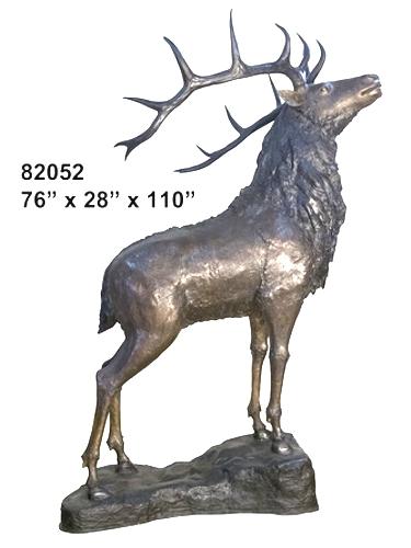 Bronze Elk Statues - AF 82052