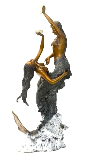 Bronze Mermaid Statues - ASB 828-S