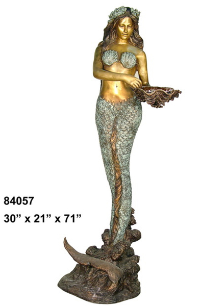 Bronze Mermaid Fountains - AF 84057-F