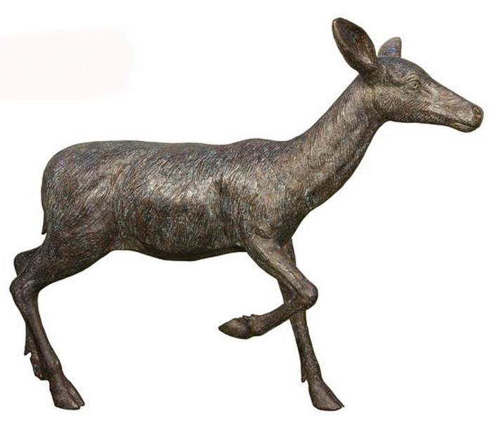 Bronze Doe Deer Statues - AF 84067