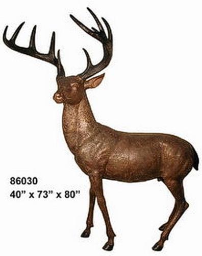 Bronze Deer Buck Statues - AF 86030B