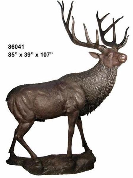 Bronze Elk Statues - AF 86041