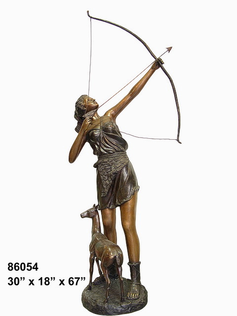 Bronze Diana Huntress Statue - AF 86054