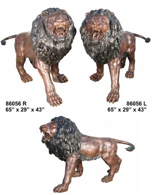 Bronze Lion Statues - AF 86056