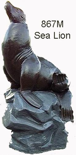 Bronze Seal Fountain - ASB 867