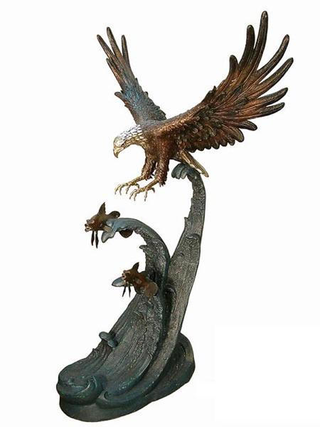 Bronze Eagle Statues - AF 87098