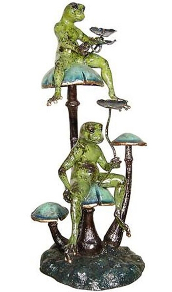 Bronze Frog Fountain/Statue - AF 87102NA-NP