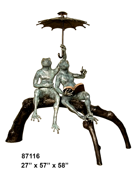 Bronze Frogs Umbrella Fountain - AF 87116