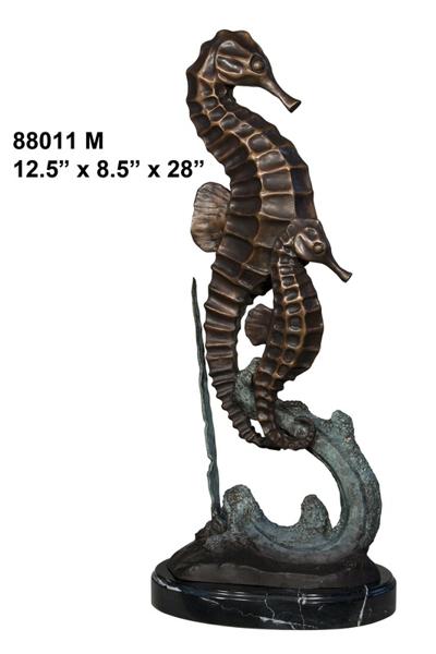 Bronze Sea Horse Statues - AF 88011
