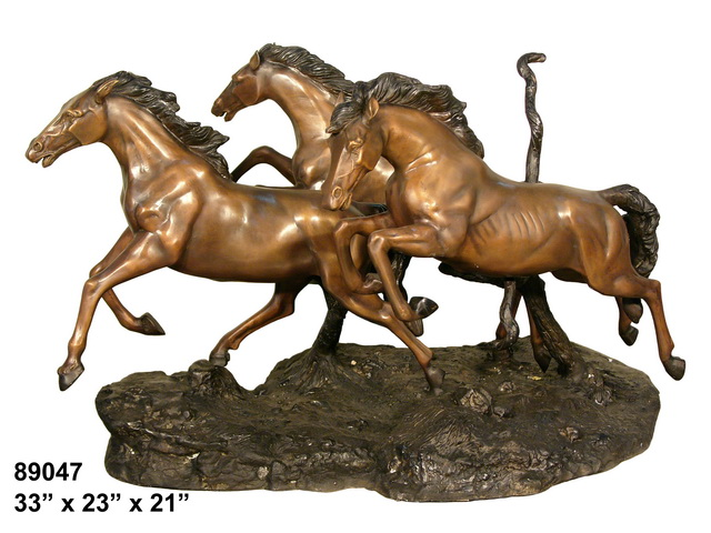 Bronze Horse Themed Table - AF 89047