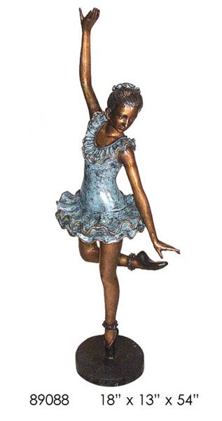 Bronze Ballerina Statue - AF 89088