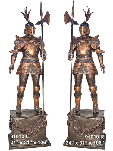 Bronze Knight Statue - AF 91010