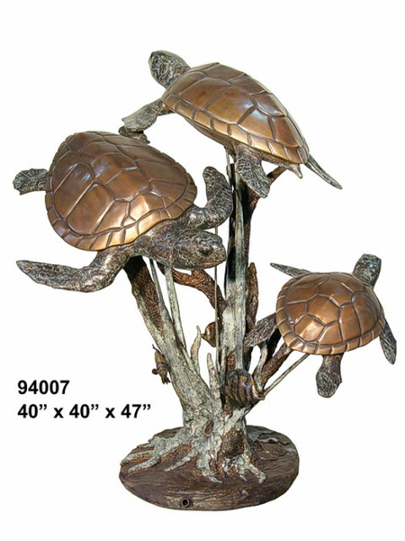 Bronze Turtle Fountains - AF 94007-F