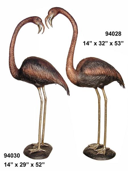 Bronze Flamingo Statue - AF 94028-30