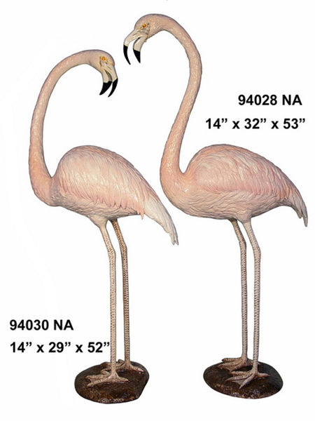 Bronze Flamingo Statue - AF 94028-30NA