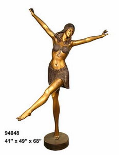 Bronze Dancing Lady Statue - AF 94048