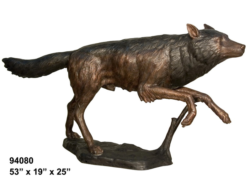 Bronze Wolf Statues - AF 94080