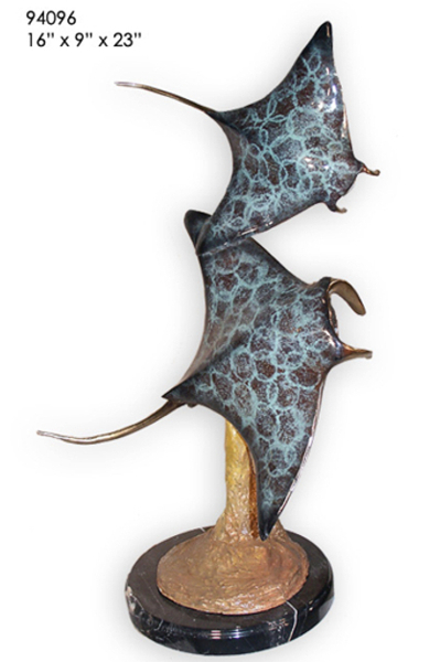Bronze Stingrays Statue - AF 94096