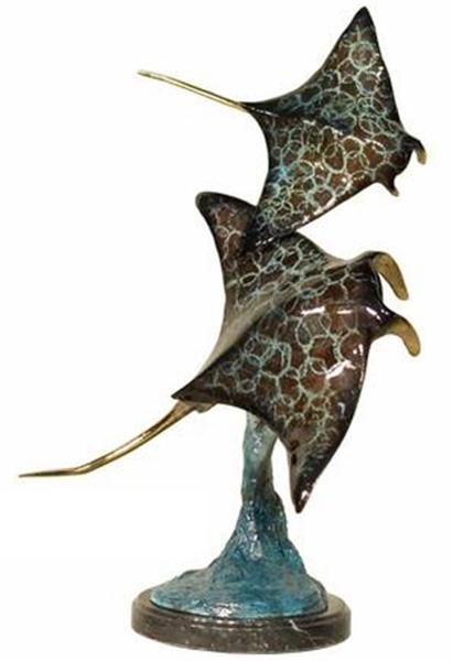 Bronze Manta Ray Statue - AF 94096NB