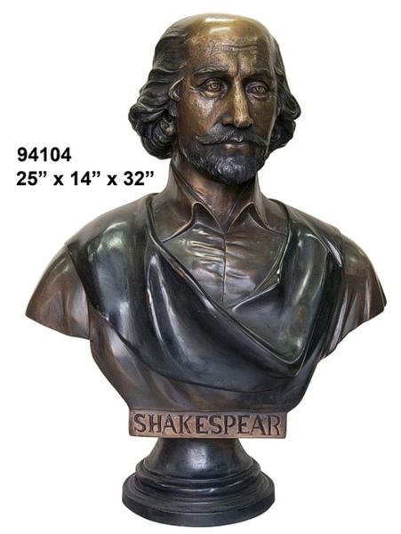 Bronze William Shakespeare Bust - AF 94104