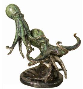 Bronze Octopus Statue