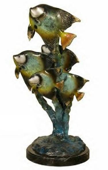 Bronze Cartoon Fish Statue - AF 94140NA
