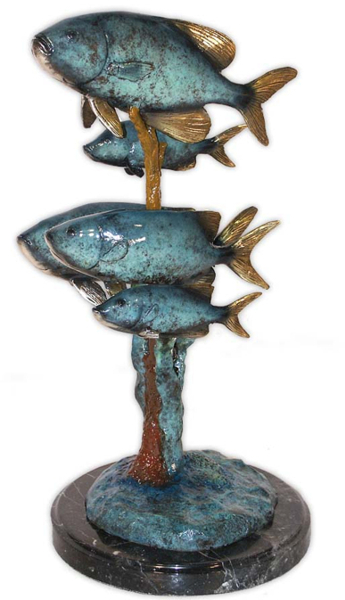 Bronze Trout Statue - AF 94142MET