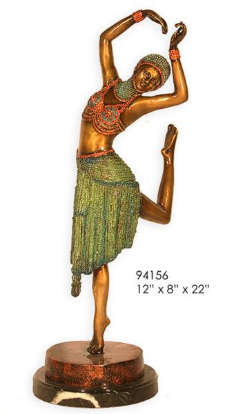 Bronze Dancing Lady Statue - AF 94156