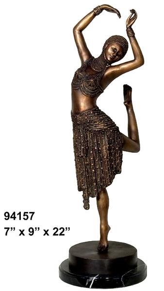 Bronze Dancing Lady Statue
