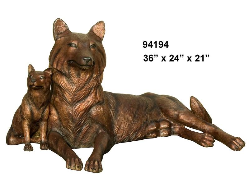 Bronze Wolf Statue - AF 94194