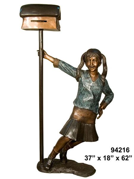 Bronze Girl Mailbox - AF 94216