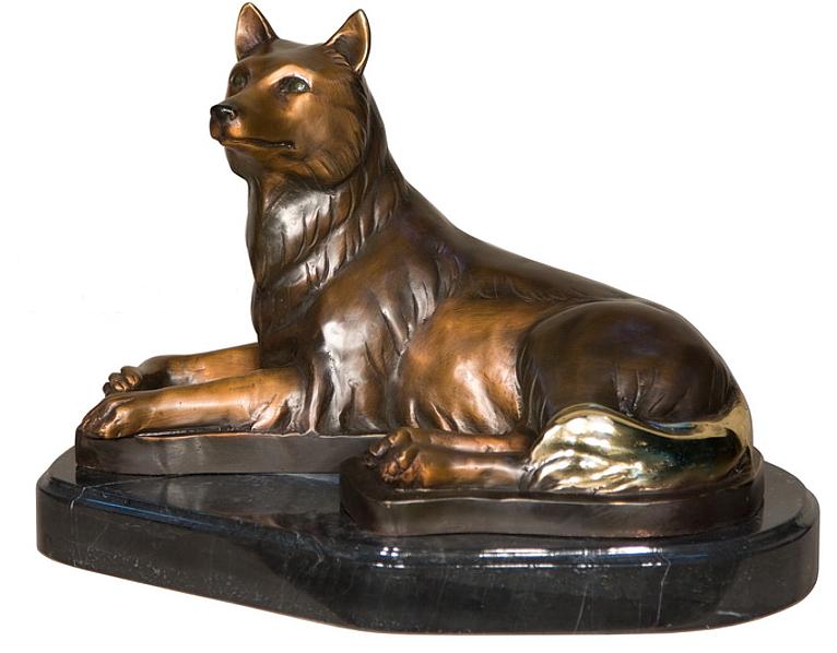 Bronze Fox Statue - AF 94234M