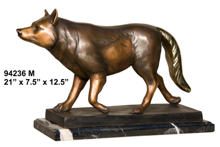Bronze Wolf Statue - AF 94236M