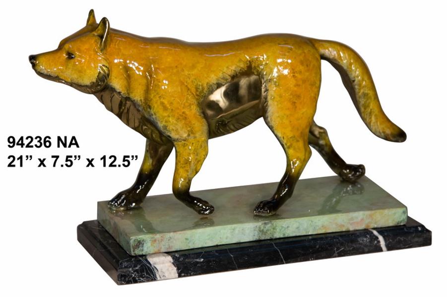 Bronze Wolf Statue - AF 94236NA