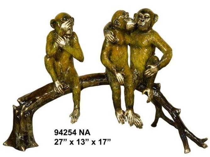 Bronze Monkey Statue - AF 94254NA