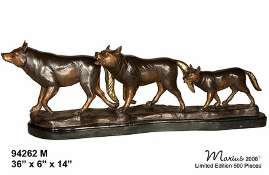 Bronze Wolf Statue - AF 94262M
