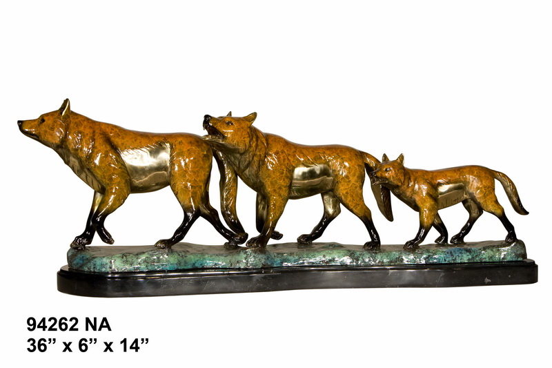 Bronze Wolf Statue - AF 94262NA
