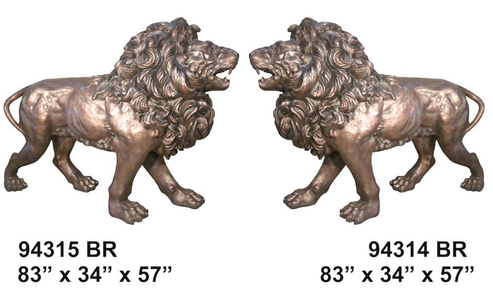 Fighting Bronze Lions - AF 94314-15BR (L & R)