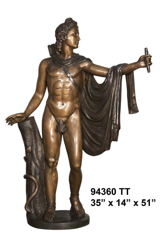 Bronze Philosopher Statue - AF 94360TT