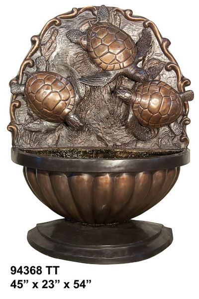 Bronze Turtle Wall Fountain - AF 94368TT
