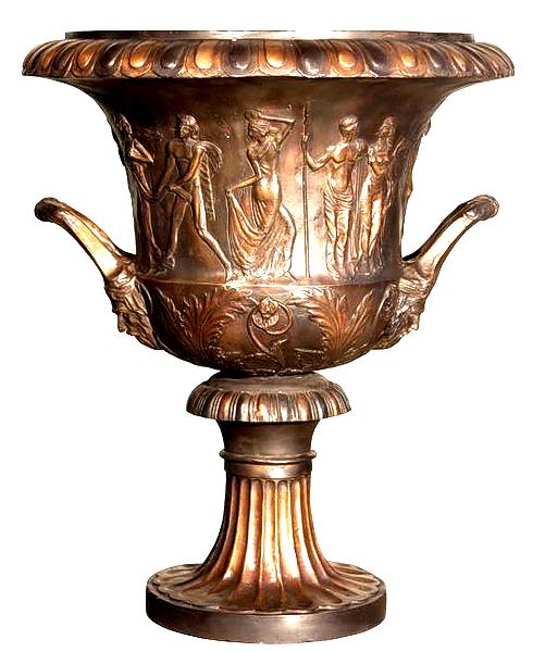 Bronze Incredibly Detailed Urn - AF 94370BR
