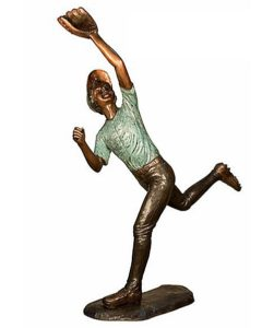 Bronze Children Baseball Player Statues