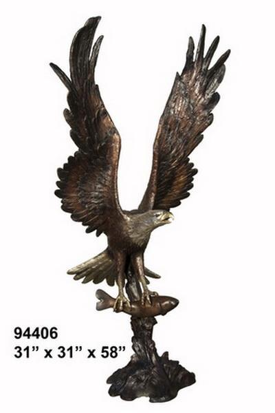Bronze Eagle Statues - AF 94406