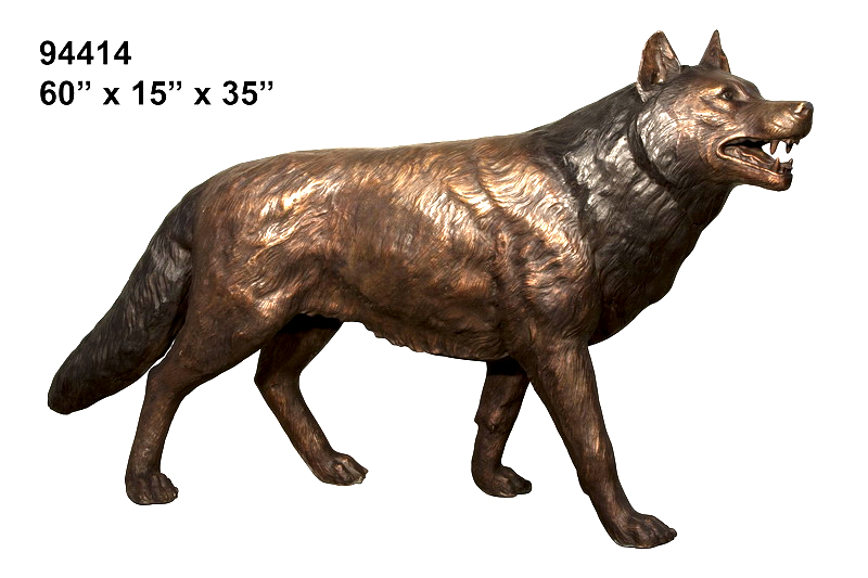 Bronze Wolf Statues - AF 94414