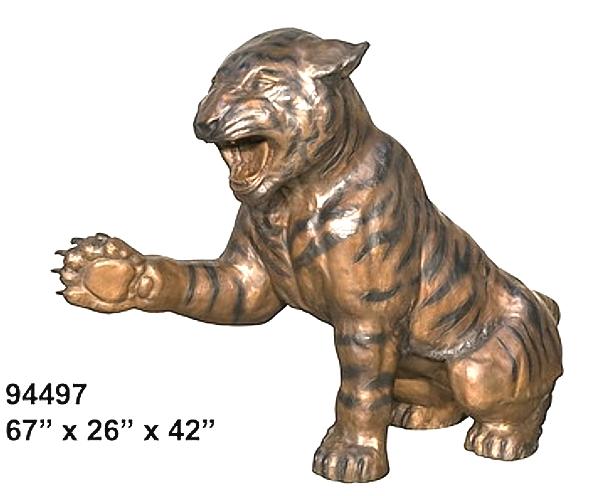 Bronze Tiger Statues - AF 94497