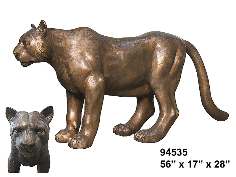 Bronze Lioness & Cub Statues - AF 94535
