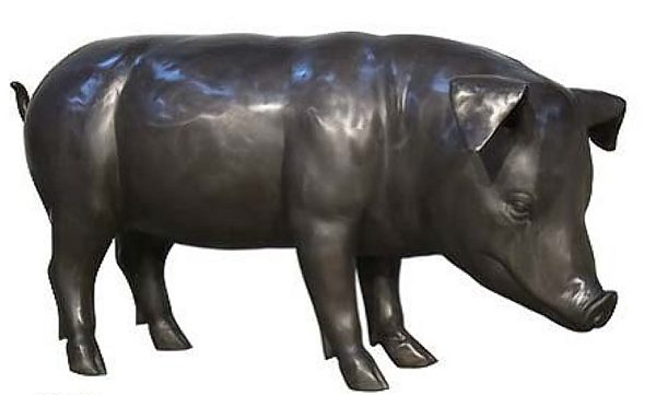 Bronze Pig Statue