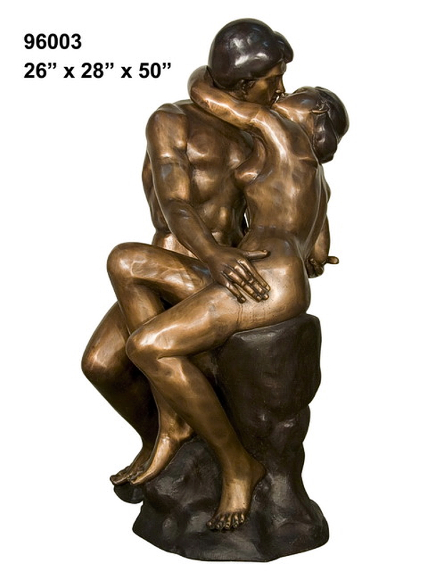 Bronze Nude Lovers Statue - AF 96003