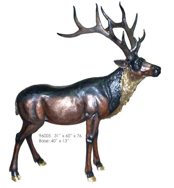Bronze Deer Buck Statues - AF 96005