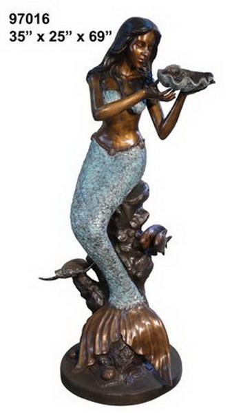 Bronze Mermaid Fountains - AF 97016